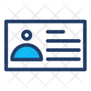 Id Identification Card Icon