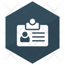 Identification Card Account Badge Icon