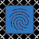 Identity Thumbprint Investigation Icon