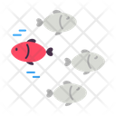 Reverse Trend Different Fish Icon