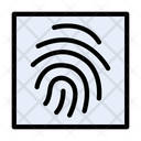 Identity Thumbprint Verification Icon