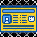 Identity Card Electronic Icon