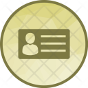 Identity Card Identification Icon