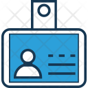 Identity Badge Card Icon