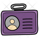 Identity Card Employee Card Student Card Icon