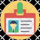 Identity Card Employe Icon