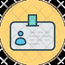 Identity Card Credit Card Badge Icon