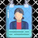 Artboard Female Icard Identity Card Icon