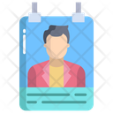 Artboard Male Icard Identity Card Icon