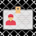 Identity Card Employee Icon