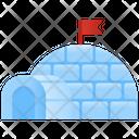 Igloo House Winter Icon