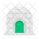 Winter Christmas Building Icon