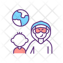Illegal Child Adoption Smuggling Trafficking Icon