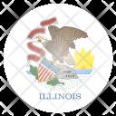 Illinois Us State Icon