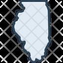 Illinois Chicago America Icon