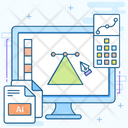 Illustrator Stand Structure Graphic Layout Icon