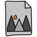 Landscape Image Drawing Icon