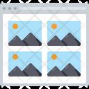 Image Grid Layout Icon
