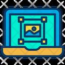 Laptop Image Designing Designing Icon