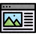 Image Website Layout Page Icon