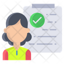 Immigration Check Immigration Officer Icon