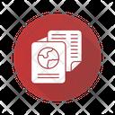 Immigration Documents International Pass Flight Ticket Icon