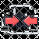 Impact Opposite Arrows Directional Arrow Icon
