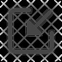 File Arrow Save Icon