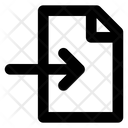 Import Document Arrow Icon