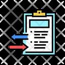 Import Export Document Icon