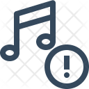 Important Music Warning Icon