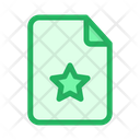 Star Certificate Document Icon