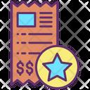 Important Star Favourite Invoice Favourite Bill Icon