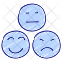 Emojis Happy Sad Icon
