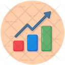 Growth Chart Bar Chart Data Analytics Icon