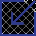 Arrow In Entry Icon