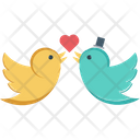 In Love Kissing Birds Loving Birds Icon