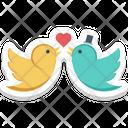 In Love Kissing Birds Loving Birds Icon