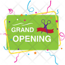 Inauguration Ribbon Grand Opening Soon Opening Soon Logo Icon