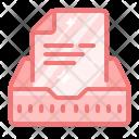 Inbox Box Paper Icon