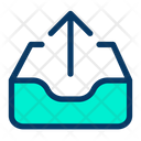 Inbox Upload Up Icon