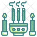 Incense Prayer Candle Icon