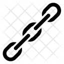 Inclined Chain Link Connection Icon