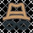Spy Glasses Hat Icon
