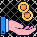 Hand Income Money Icon
