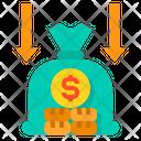 Income Decrease Budget Icon
