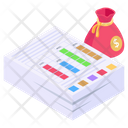 Financial Statement Income Statement Financial Report Icon