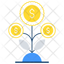 Income Growth Money Growth Financial Growth Icon