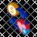 Heart Dollar Money Icon