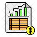 Income Statement Income Report Fundraising Icon